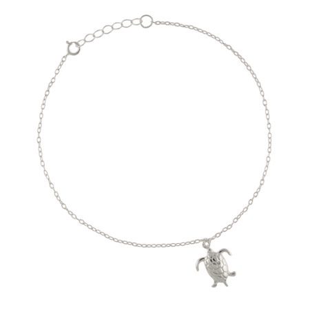 Sterling Silver Sea Turtle Anklet