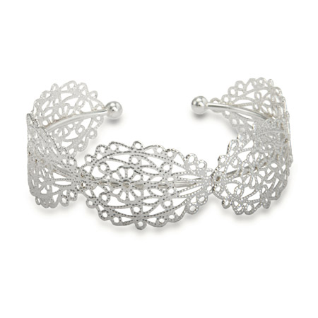 Beautiful Filigree Design Cuff Bracelet