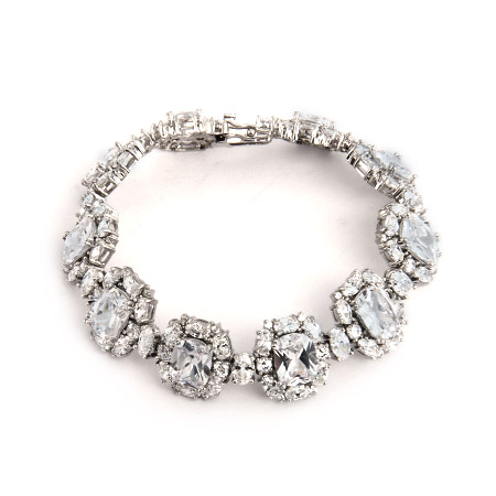 Ritzy Cushion Cut CZ Cocktail Bracelet