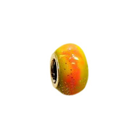 Yellow Orange Enamel Oriana Bead - Pandora Bead & Bracelet Compatible