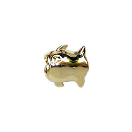 Gold Bubble Fish Oriana Bead - Pandora Bead & Bracelet Compatible