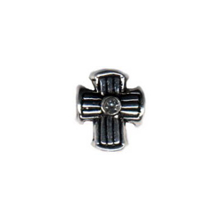 Diamond Lined Cross Oriana Bead - Pandora Bead & Bracelet Compatible