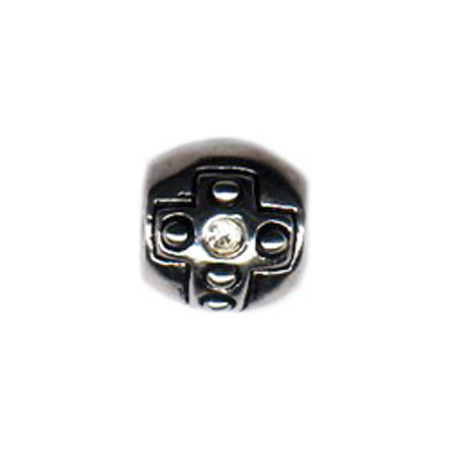 Diamond Stone Cross Barrel Oriana Bead - Pandora Bead & Bracelet Compatible