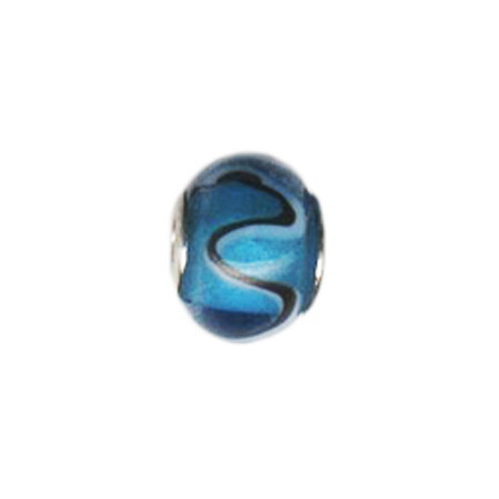 Licorice Swirl Glass Oriana Bead - Pandora Bead & Bracelet Compatible
