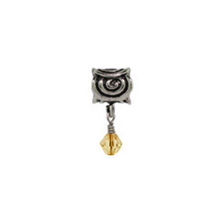 Dangling Scroll November Oriana Bead - Pandora Bead & Bracelet Compatible