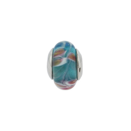 Pink and Blue Water Lilys Oriana Bead - Pandora Bead & Bracelet Compatible