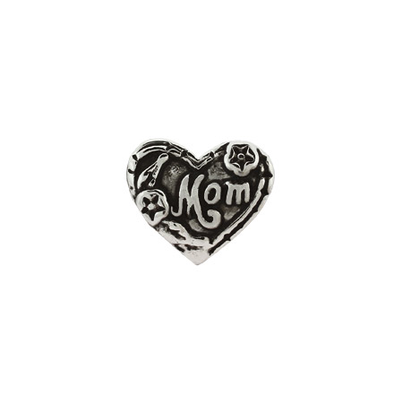 Mom Heart Shaped Oriana Bead - Pandora Bead & Bracelet Compatible