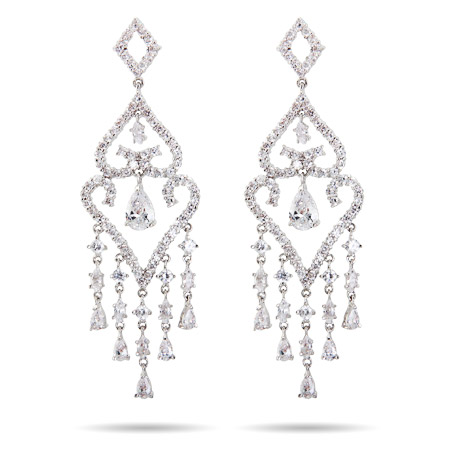 Elegant Raining Teardrops Chandelier Earrings