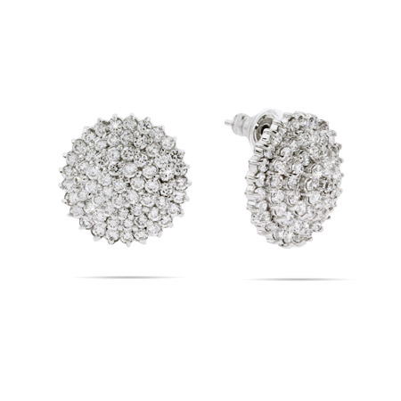 Glistening Spiral CZ Cocktail Earrings