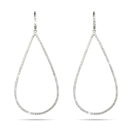 Elongated Teardrop Micro CZ Earrings