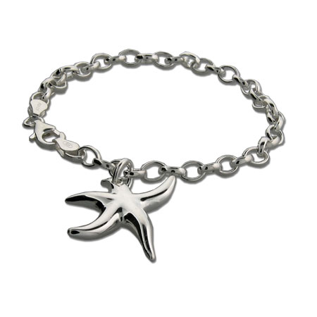 Tiffany Inspired Sterling Silver Starfish Bracelet
