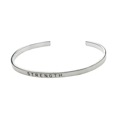 Sterling Silver Friendship Stackable Bracelet - Strength