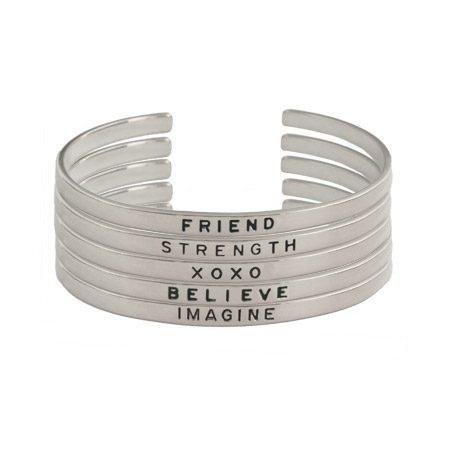 Sterling Silver Friendship Stackable Bracelets