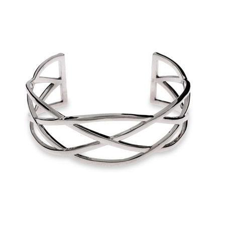 Tiffany Inspired Celtic Knot Sterling Silver Cuff Bracelet