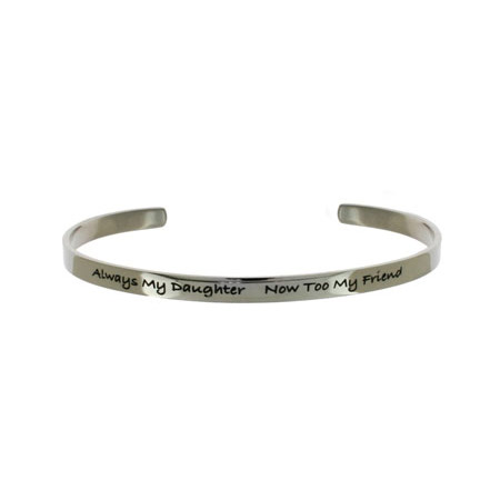Always My Daughter Stainless Steel Cuff Bracelet