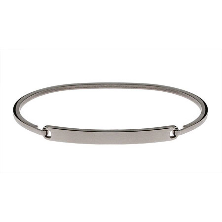 Ladies Simple Thin Engravable Bangle ID Bracelet