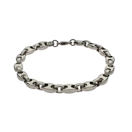 Mens Curb Link Stainless Steel Bracelet