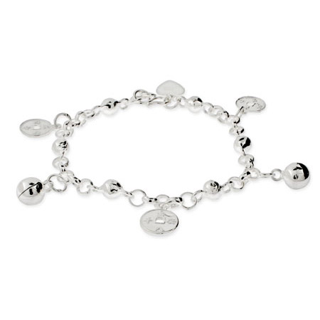 Kids Sterling Silver Chinese Fortune Bracelet