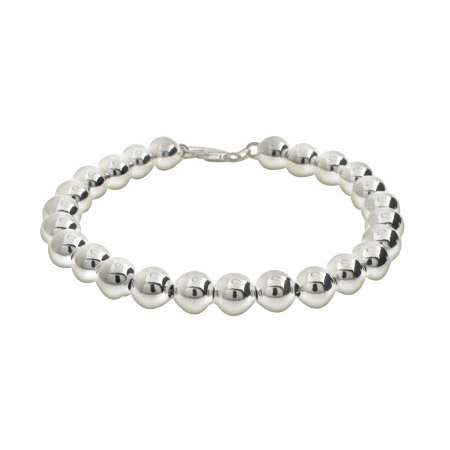 Tiffany Inspired 8mm Sterling Silver Bead Bracelet
