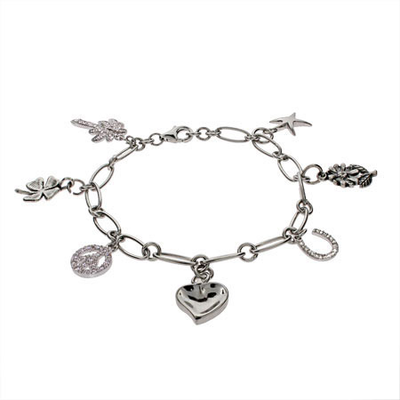Build Your Own Sterling Silver Charm Bracelet