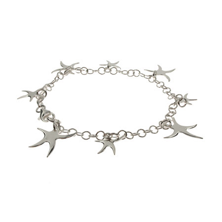Tiffany Inspired Sterling Silver Dangling Starfish Bracelet