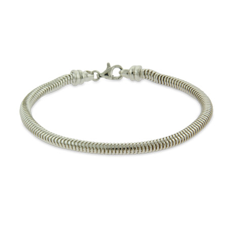 Heavy Sterling Silver 5mm Snake Chain Bracelet