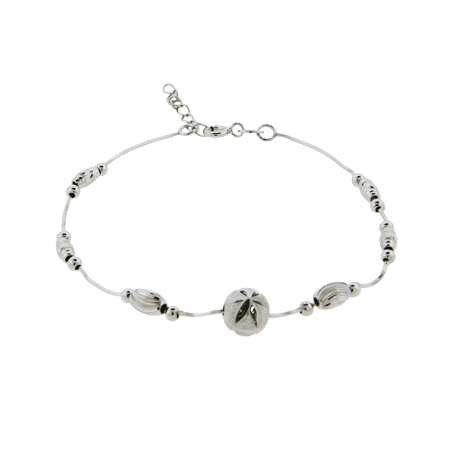 Petite Sterling Silver Beaded Flower Bracelet