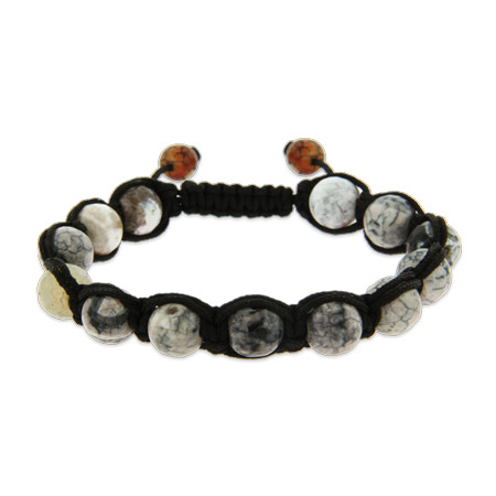 Marbled Agate Faith Shamballa Inspired Bracelet