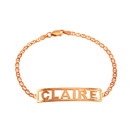 Rose Gold Vermeil Custom Name Bracelet