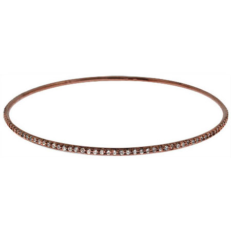 Rose Gold Stackable CZ Bangle Bracelet