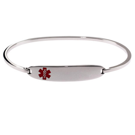 Engravable Medical ID Bangle Bracelet