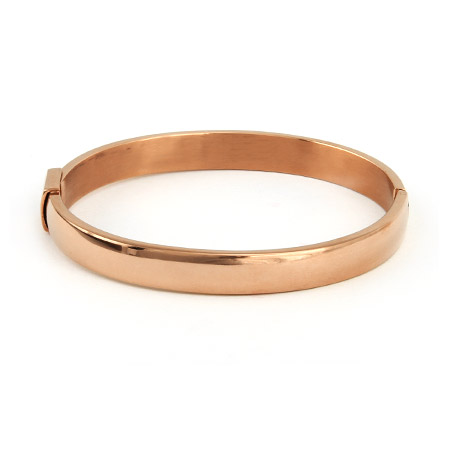 Oval Rose Gold Bangle
