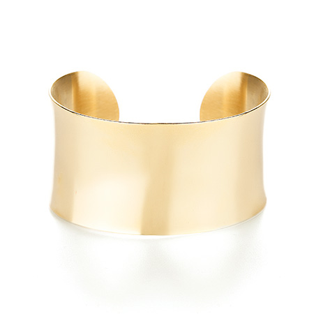 Tiffany Inspired 18k Gold Plated Wide Cuff Bracelet