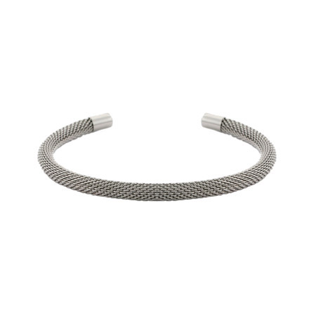 Tiffany Inspired Thin Mesh Stainless Steel Cuff Bracelet