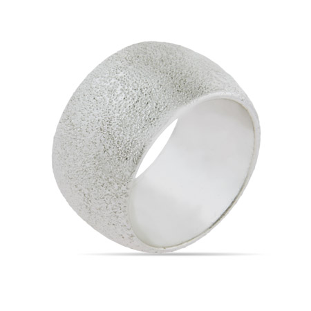 Engravable 13 MM Frosted Silevertone Band