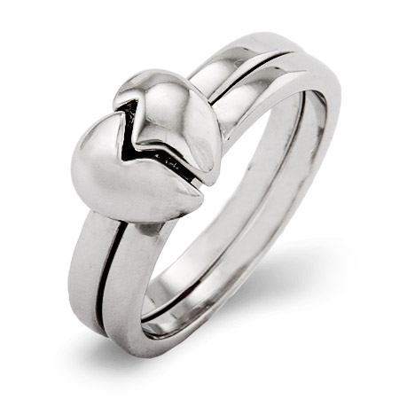 Best Friends 2 in 1 Split Heart Ring