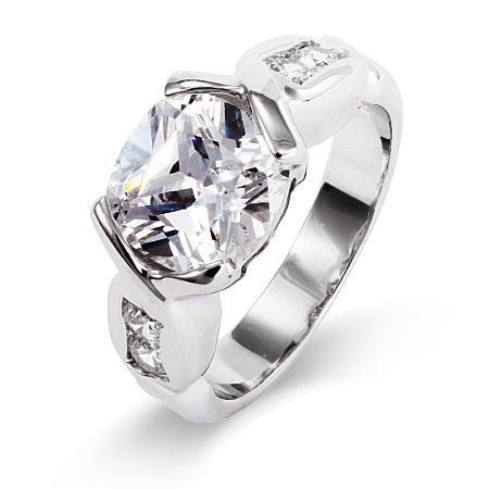 Dazzling Oval Cut CZ Right Hand Ring
