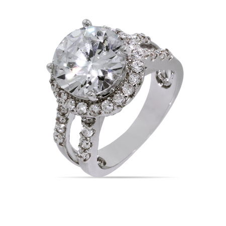 Dazzling Round CZ Right Hand Ring