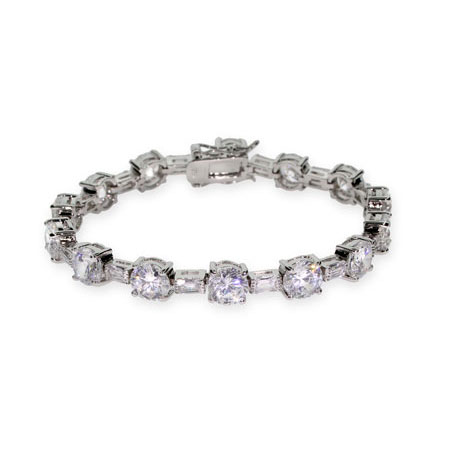 Sparkling Brilliant Cut CZ Tennis Bracelet