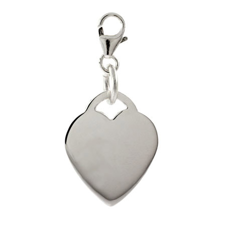 Tiffany Inspired Sterling Silver Engravable Heart Tag Charm
