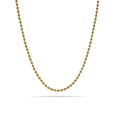 2.4mm Gold IP Plated Bead Chain