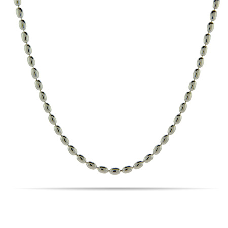 Sterling Silver Oval Bead Link Chain