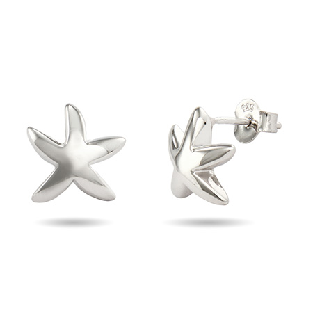 Tiffany Style Sterling Silver Starfish Earrings