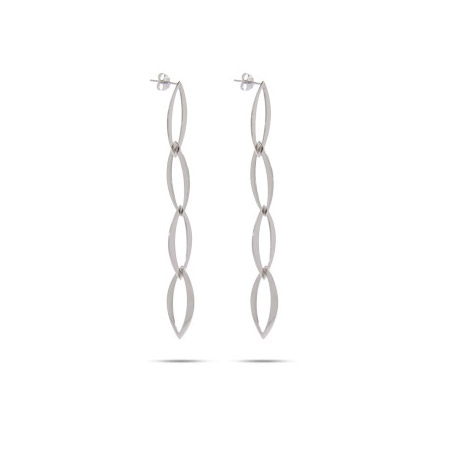 Bridget Jones Inspired Sterling Silver Stiletto Dangle Earrings