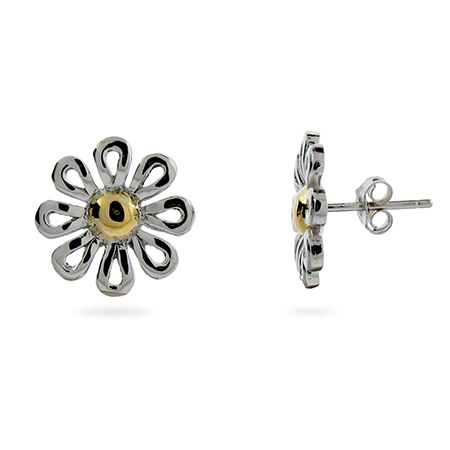 Tiffany Inspired Paloma Picasso Sterling Silver Daisy Stud Earrings