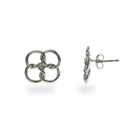 Tiffany Inspired Sterling Silver Linked Circles Earrings