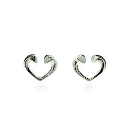 Tiffany Inspired Tenderness Heart Stud Earrings