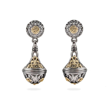 Designer Inspired Vintage Bali Style Ornate Drop Earrings