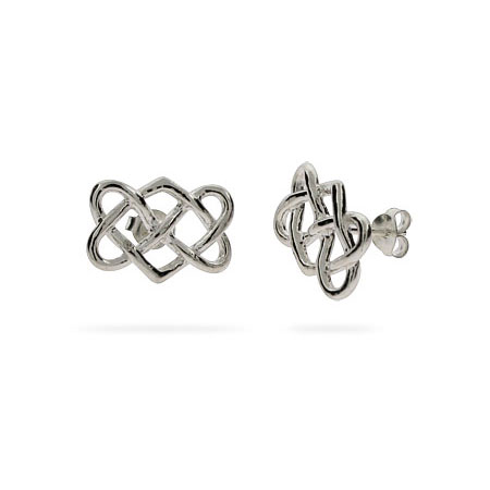 Tiffany Inspired Sterling Silver Celtic Knot Earrings