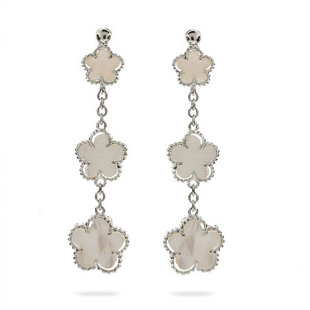 Designer Style Mother of Pearl Clover Earrings